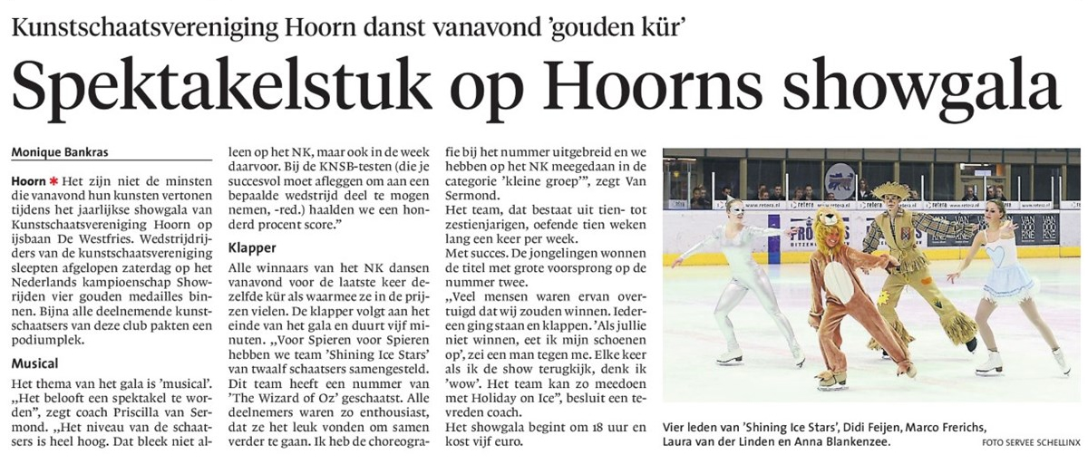 NHD Dagblad West-Friesland, zaterdag 29 maart 2014