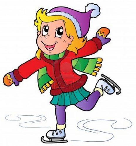 11505287-cartoon-schaatsen-meisje-illustratie